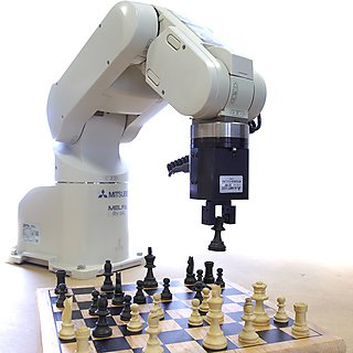 Robot Arm playing chess