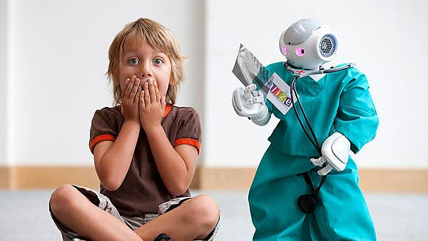Child and robot