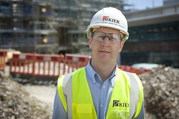Construction graduate part of research labs development