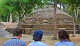 Engaging with the ancient Maya archaeological site Cahal Pech in Belize