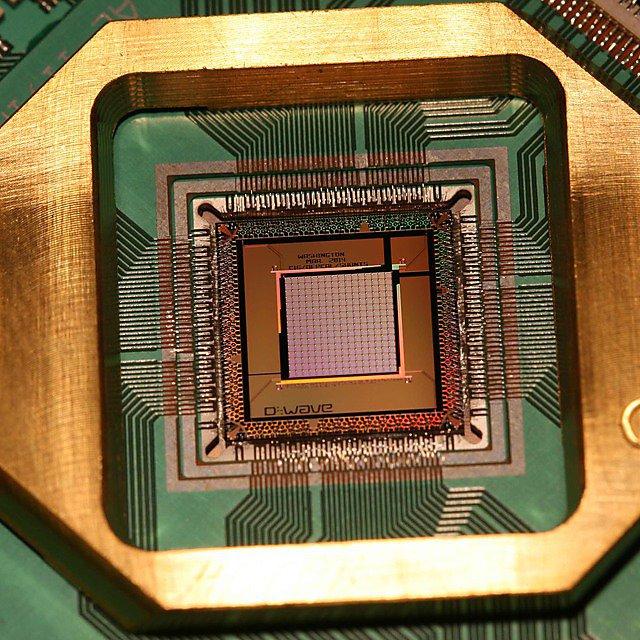 A D-Wave 1000 Qubit Quantum Processor - Image Courtesy of D-Wave Systems Inc