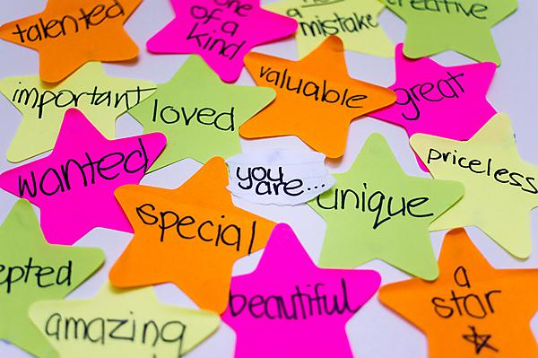 Self-esteem post-it notes - image copyright: Kiran Foster on flickr, Creative Commons license