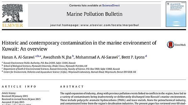 Al-Saawari H et al  MPB 2015 paper