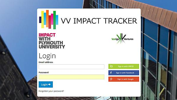 Login Page for VV-Impact Tracker