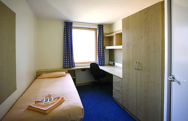 En-suite room in halls of residence