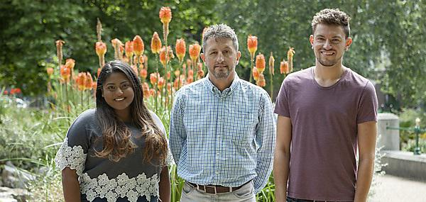Student Ambassadors who are working on the Clearing hotline this year: Jenita Loheswaran, Robert Carnon and Paul Murphy