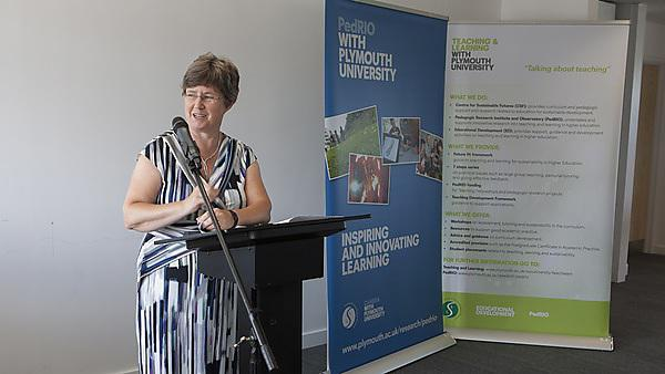 Professor Pauline Kneale at PedRIO event