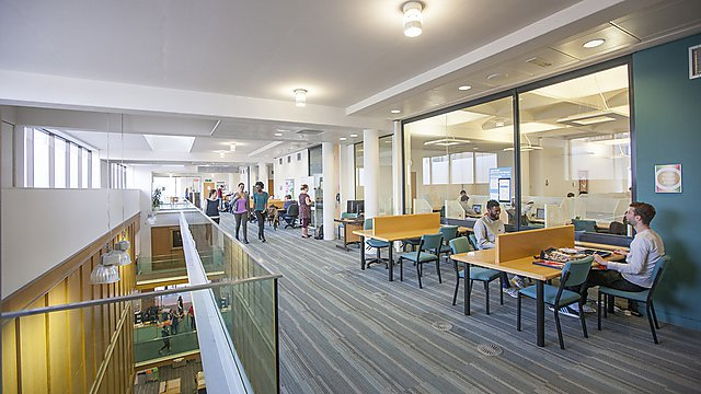 7. When you need a change of scene, there's a wide choice of study environments throughout the library.