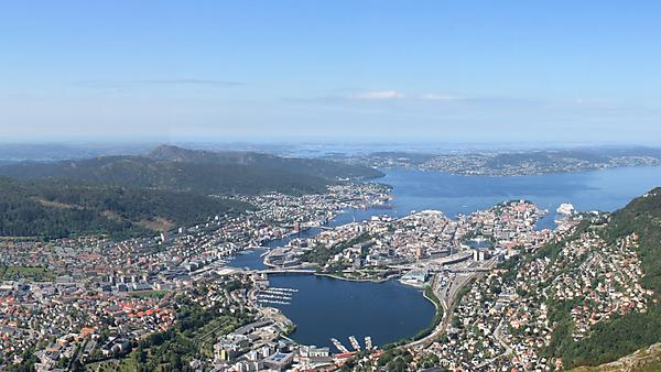 Bergen aerial view
