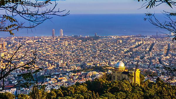 <p>Barcelona aerial view</p>