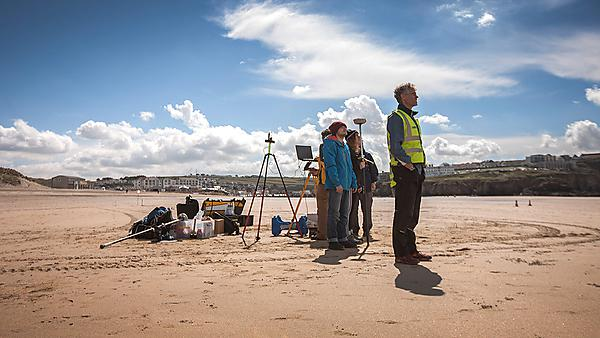 <p>Researchers from our Coastal Processes Research Group</p>