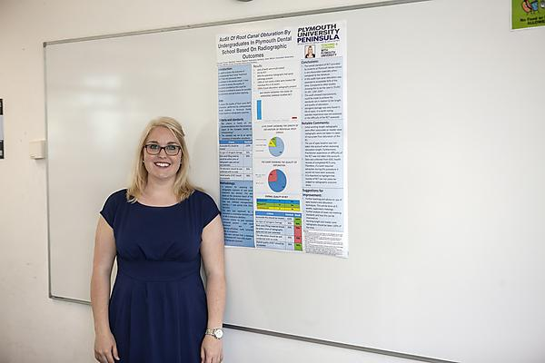 <p>Angharad Truman and her winning poster</p>