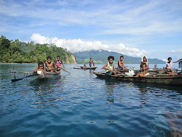 Children in Papua New Guinea quickly grasp what global carbon dioxide emissions are doing to their coral reefs