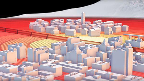 <p>Video still from 'Anatomy of an earthquake' by NERC featuring Professor Iain Stewart