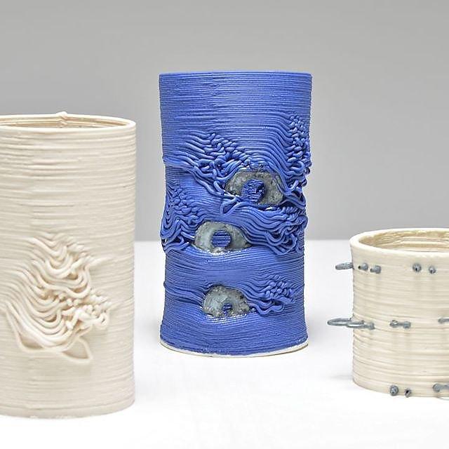 <p>3D design students ceramic pots</p>