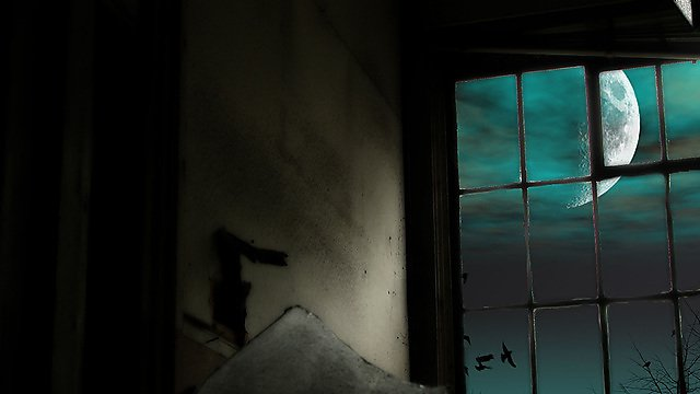 <p>The moon through a window - BA English featured module</p>