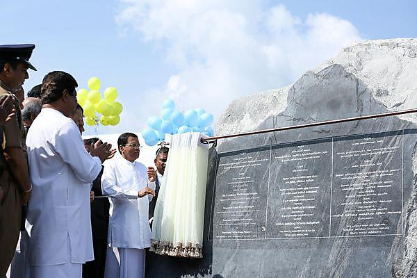 <p>The opening of the green university village in Sri Lanka</p>