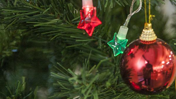 <p>Christmas tree baubles</p>