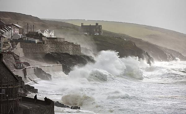 <p>Coastal research at Porthleven</p>