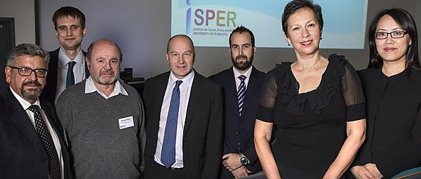 <p>From left, at the launch of ISPER, are 