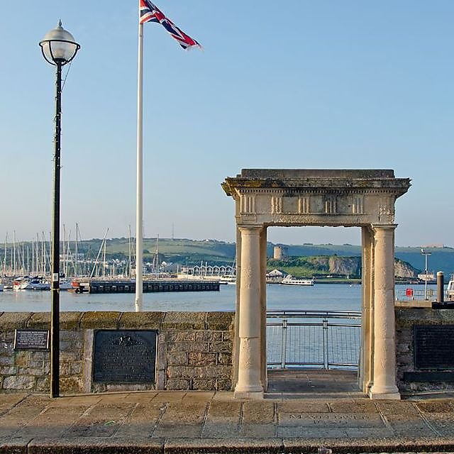 <p>Image of the Mayflower Steps in Plymouth.</p>