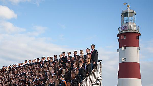 <p>Graduates on the hoe</p>