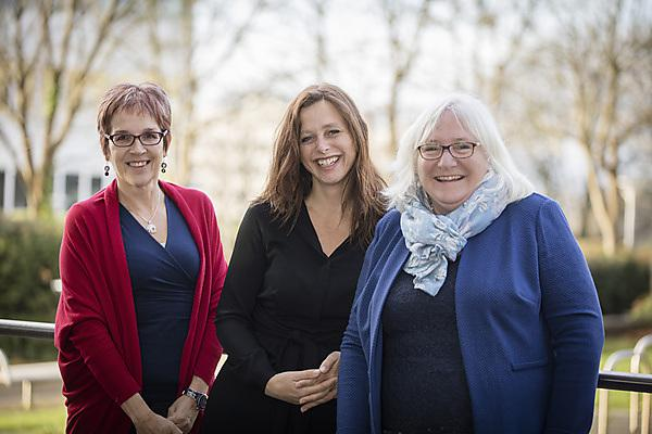<p>Professor Hilary Neve, Dr Jennie Winter and Dr Cathy Coelho</p>