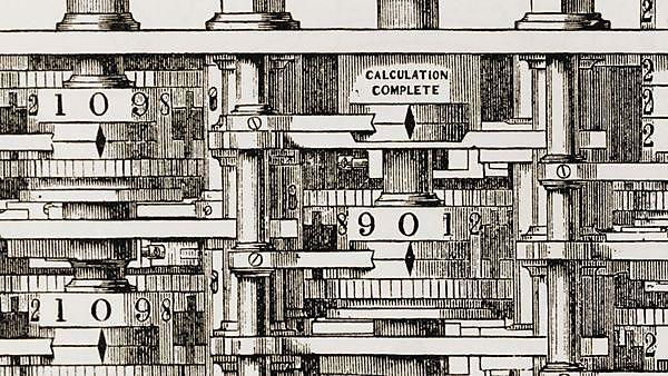 <p>                   </p><div>Small part of Babbage's mechanical calculating engine, his Difference Engine - an invention to which he dedicated his life.</div>