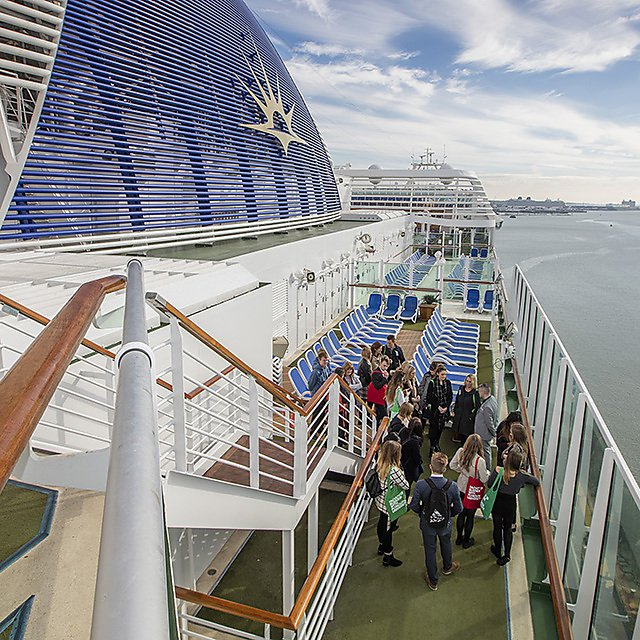 <p>Cruise management open day students on a cruise ship - student life magazine issue 5</p>
