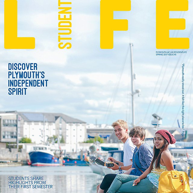 <p>Student life magazine cover issue 5 square</p>