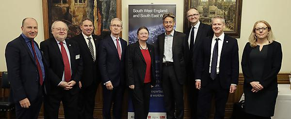<p>Professor Simon Payne (far left), Deputy
