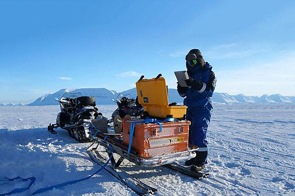 <p>Preparing equipment for deployment in the Arctic</p>