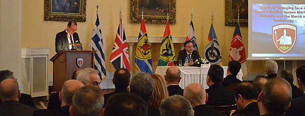 Former First Sea Lord addresses naval officers and students in Greece