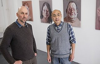 Jiqun Zhang believes working with lecturers at the University, including Chris Cook, has opened his eyes to new techniques and concepts