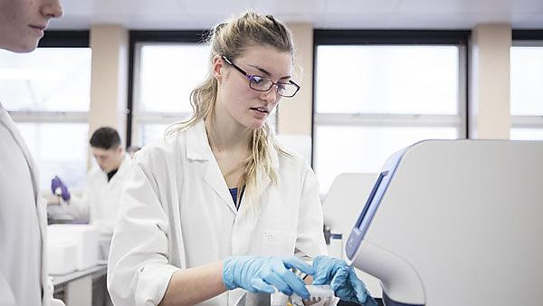 <p>Marine biology student sin the Davy labs</p>