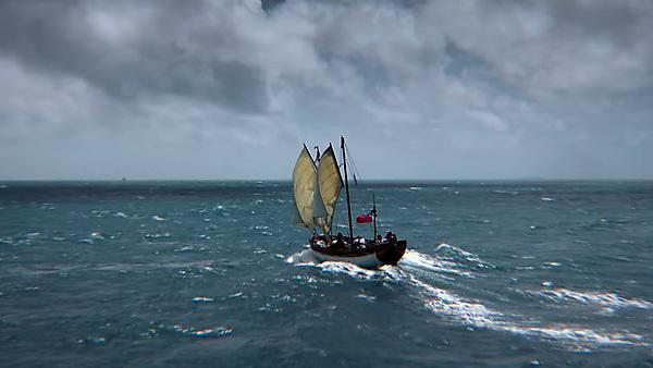 <p>Mutiny: Recreating Captain Bligh's epic voyage of survival. Image courtesy: Channel 4</p>
