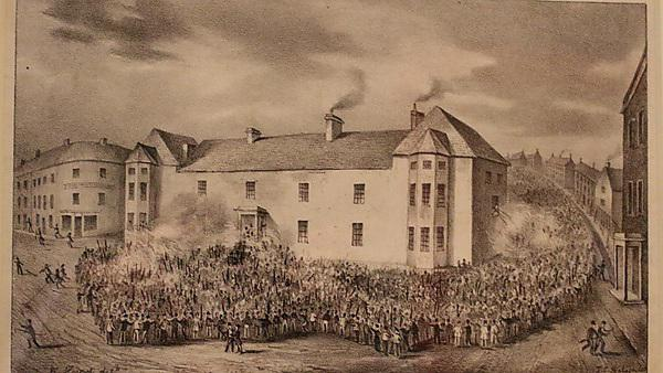 <p>Chartist Demonstration, Newport 1839. Image credit: By People's History Museum (People's History Museum) [Public domain], via Wikimedia Commons</p>