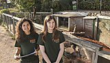 Placement students at Dartmoor Zoo