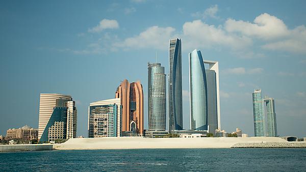 <p>Abu Dhabi skyscrapers</p>