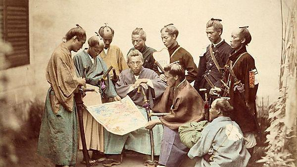 Samurai of the Chosyu clan, during the Boshin War period (Wikimedia Commons).