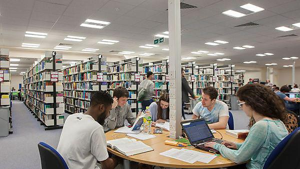 <p>Students working in the library<br></p>