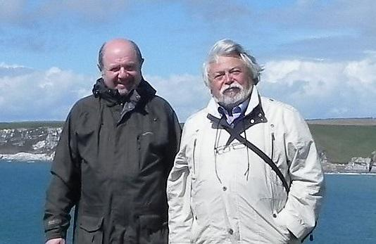 Professor Georgy Shapiro with Dr Isaac Gertman of the Israel Oceanographic Research Institute