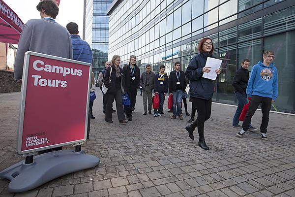 Campus tours at open day