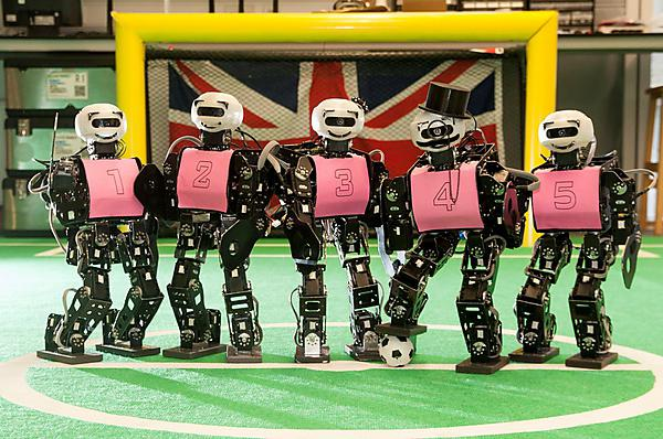 Plymouth University robot football team Robocup 2014