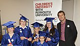 Children's University Chancellor, Professor Iain Stewart with Children's University graduates