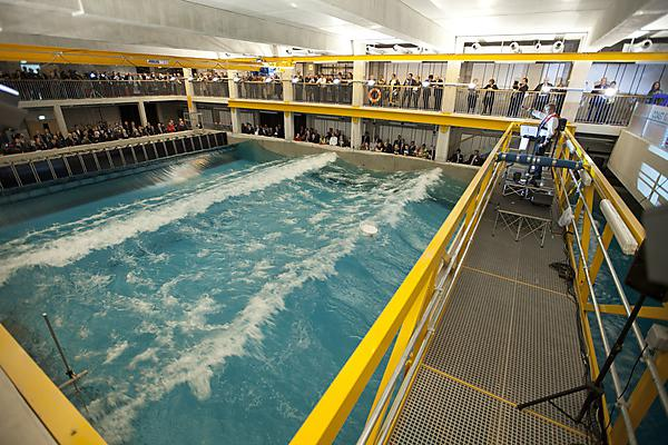 The COAST laboratory provides physical model testing with combined waves, currents and wind