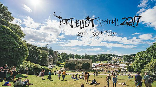 <p>A view of the Port Eliot Festival with 2017 branding / logo</p>