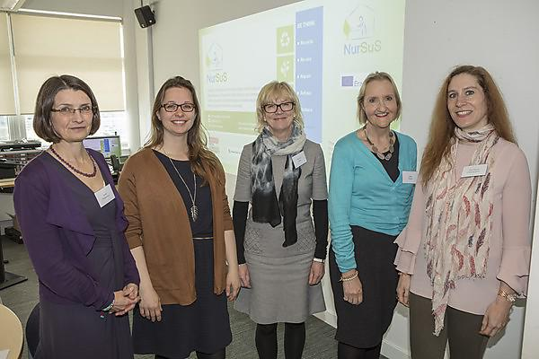 Professor Janet Richardson; Dr Maud Huynen (Maastricht University); Professor Norma Huss Hochschule (Esslingen University of Applied Sciences); Dr Jane Grose (University of Plymouth); Eva-Maria Hoenemann Hochschule (Esslingen)