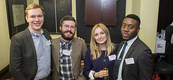 <p>Graduates at first London alumni event</p>