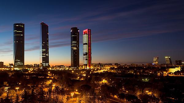 <p>Madrid skyline</p>